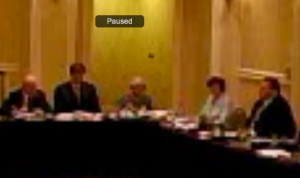 Screen capture of the TWIA board meeting