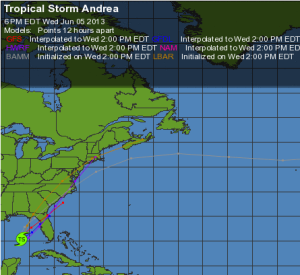 Weather Underground Map of Andrea