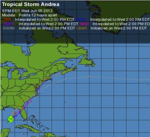 Weather Underground Map of Andrea